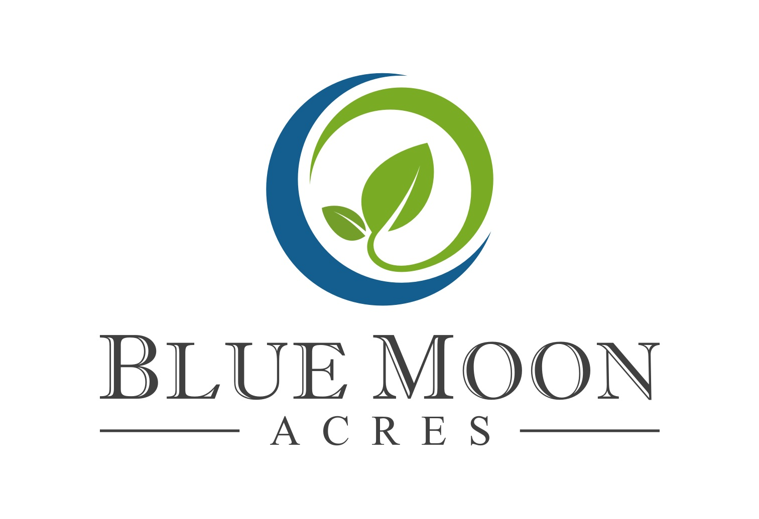 Blue moon acres logo