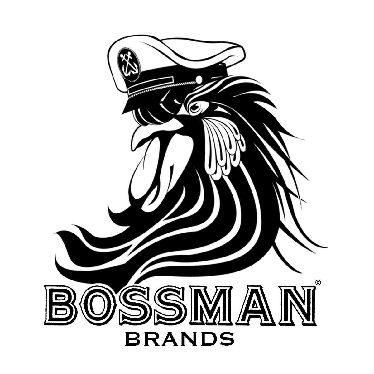 Rooster logo cut