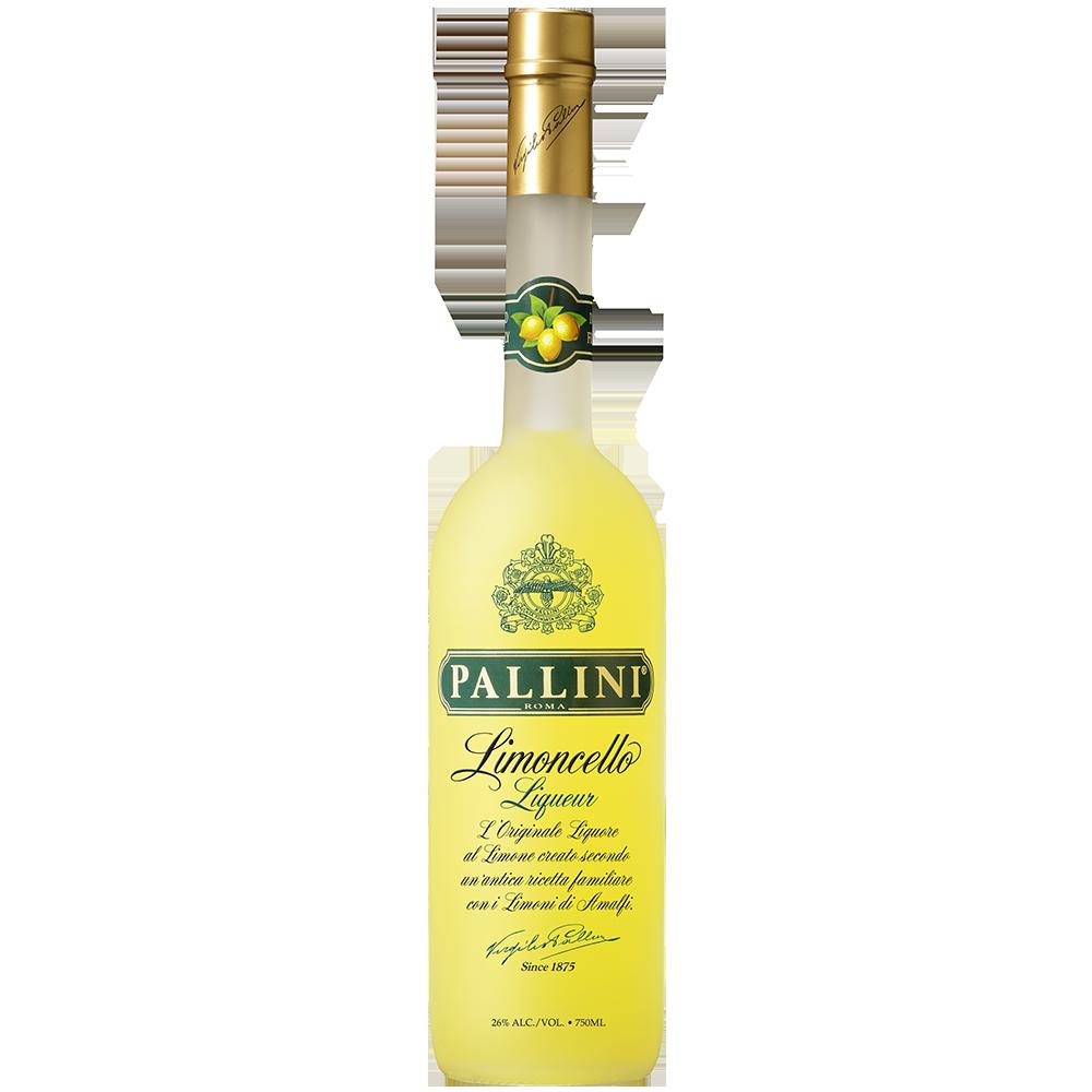 Pallini limoncello 750ml bottle shot square
